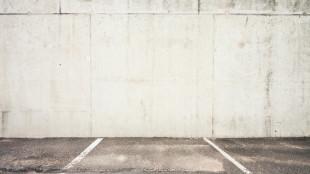 Tom parkeringsplass